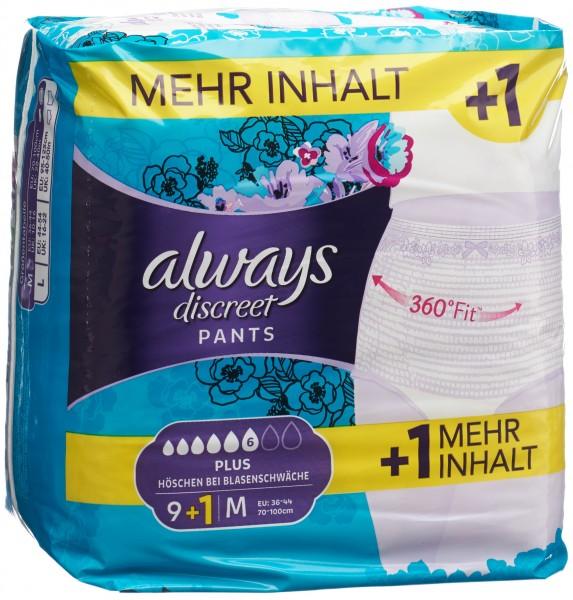 ALWAYS Discreet Inkontinenz Pants M Plus 9+1 grat
