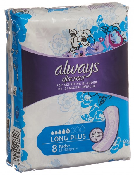 ALWAYS Discreet Inkontinenz Long Plus 8 Stk