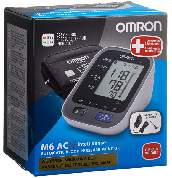OMRON Blutdruckmessgerät Oberarm M6 AC
