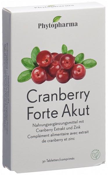 PHYTOPHARMA Cranberry Forte Akut Tabl 30 Stk