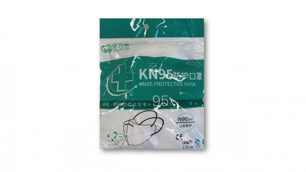 Atemschutzmasken KN95 Hinterkopf-Befestigung Protective Mask Powecom (10 Stück)