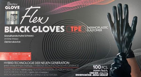 Einmalhandschuhe Black Gloves Flex schwarz à 100 Stk.