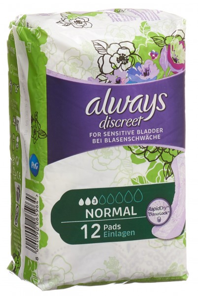 ALWAYS Discreet Inkontinenz Normal 12 Stk