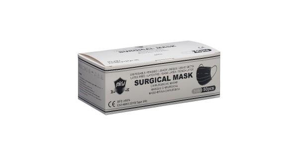 Atemschutzmasken MKW Typ IIR à 50 Stk. schwarz